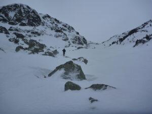Skialpinista to už tu začínal mať ťažké