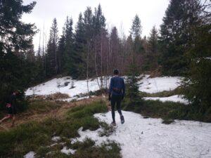 Snehu v lesoch pod Kojšou ešte bolo.